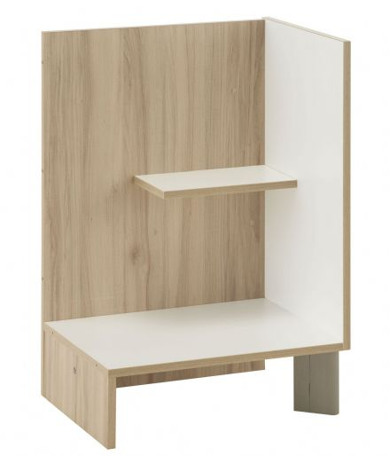 Arcane White and Cedar Effect Floating Night Stand